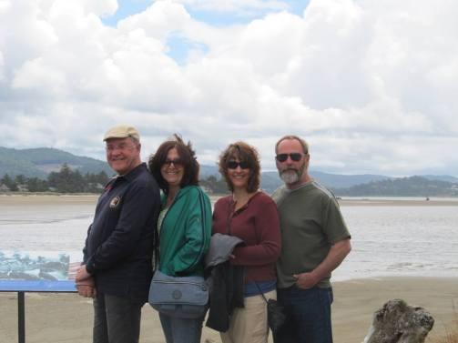 visiting the beach