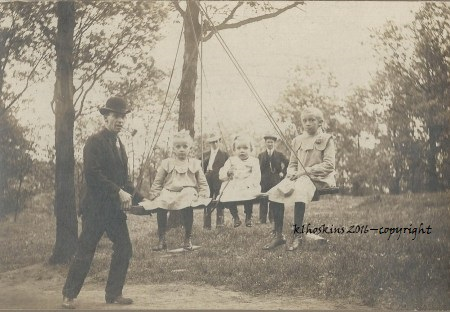 April 2016_Elmer and girls on swing
