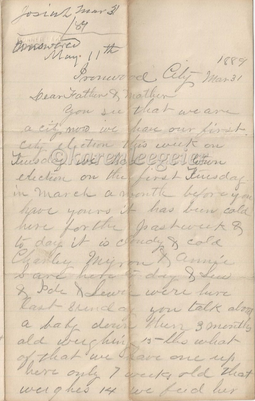 Letter #3: March 31, 1889