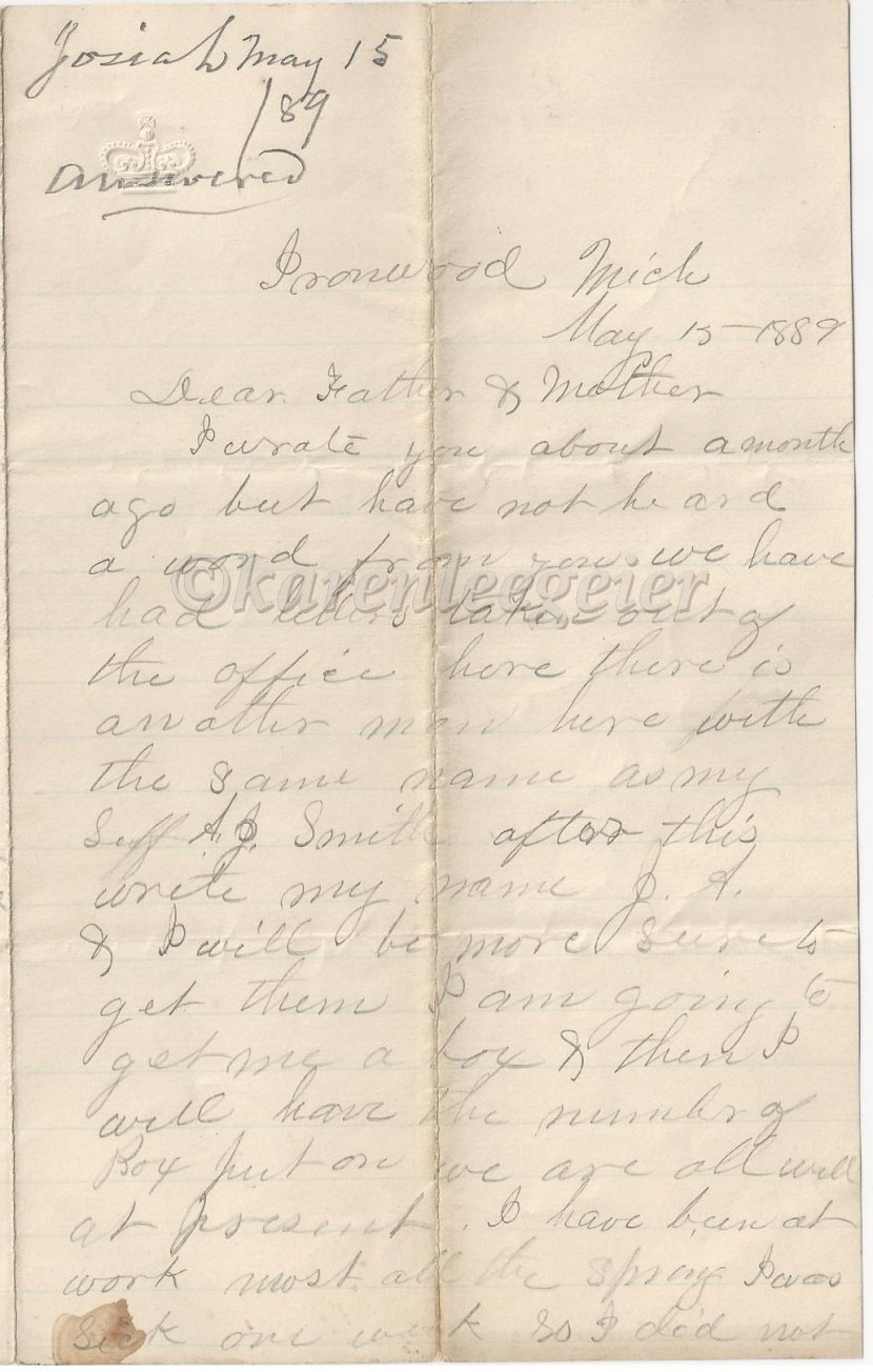 Letter #4: May 15, 1889