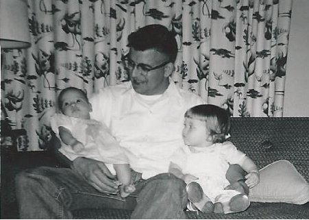 May 2015_dad and daughters_aug 1959