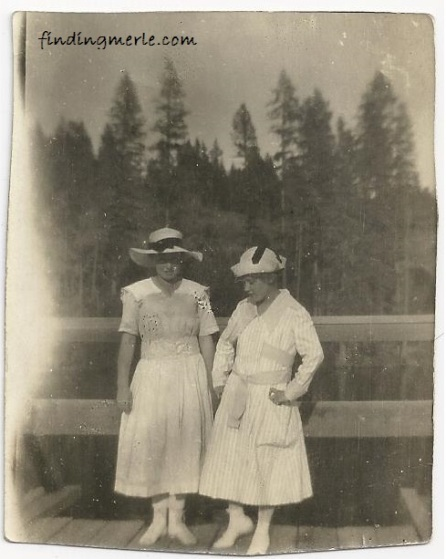 Hazel and Lalla_July 1917_Point Defiance Park
