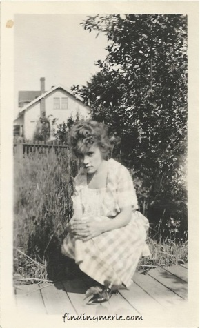 Hazel_young woman_probably at Oakes st house_Tacoma around 1914 or so