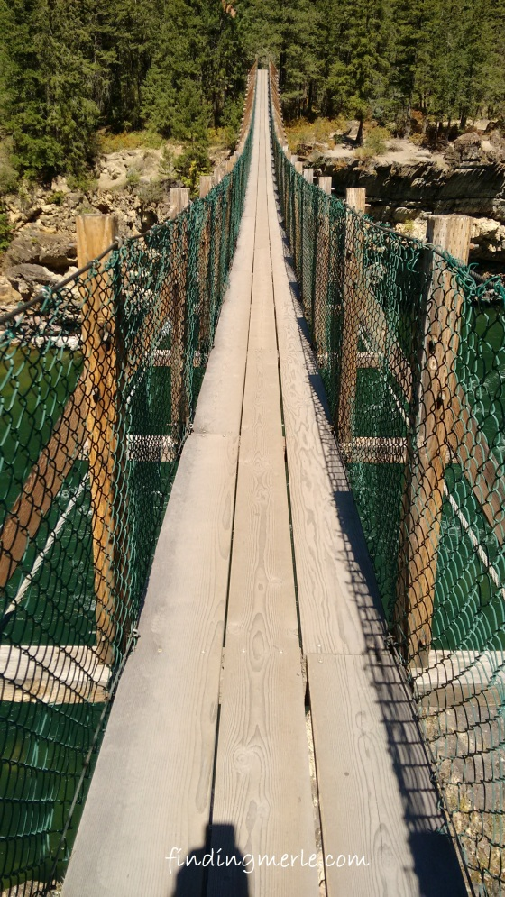 Kootenai River falls_swinging bridge