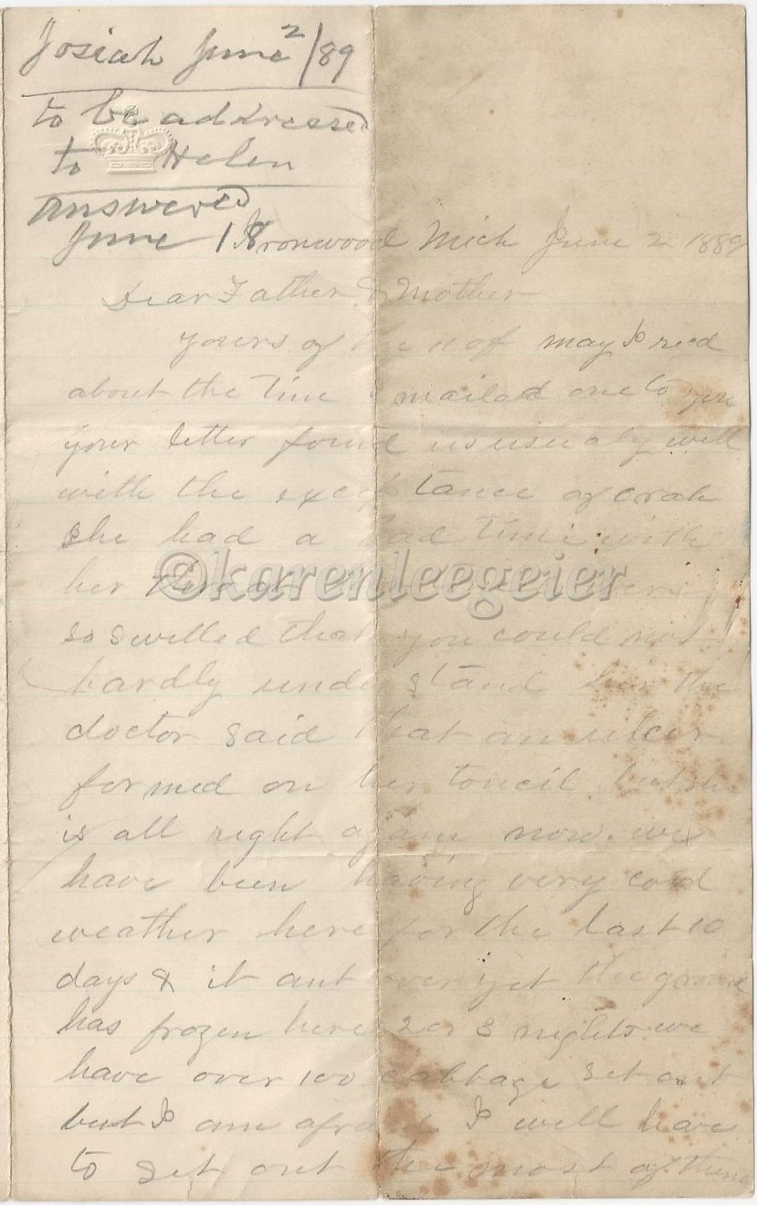 Letter #5: June 2,1889