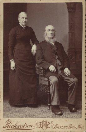 Mariah PollyAnn Bixby and the Reverand Charles E Smith, Josiah's parents; photo Daphne Purchase