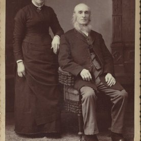 Mariah PollyAnn Bixby and the Reverand Charles E Smith, Josiah's parents; photo Daphne Purchase