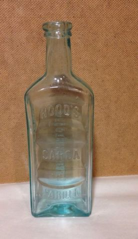 Hoods sarsaparilla bottle