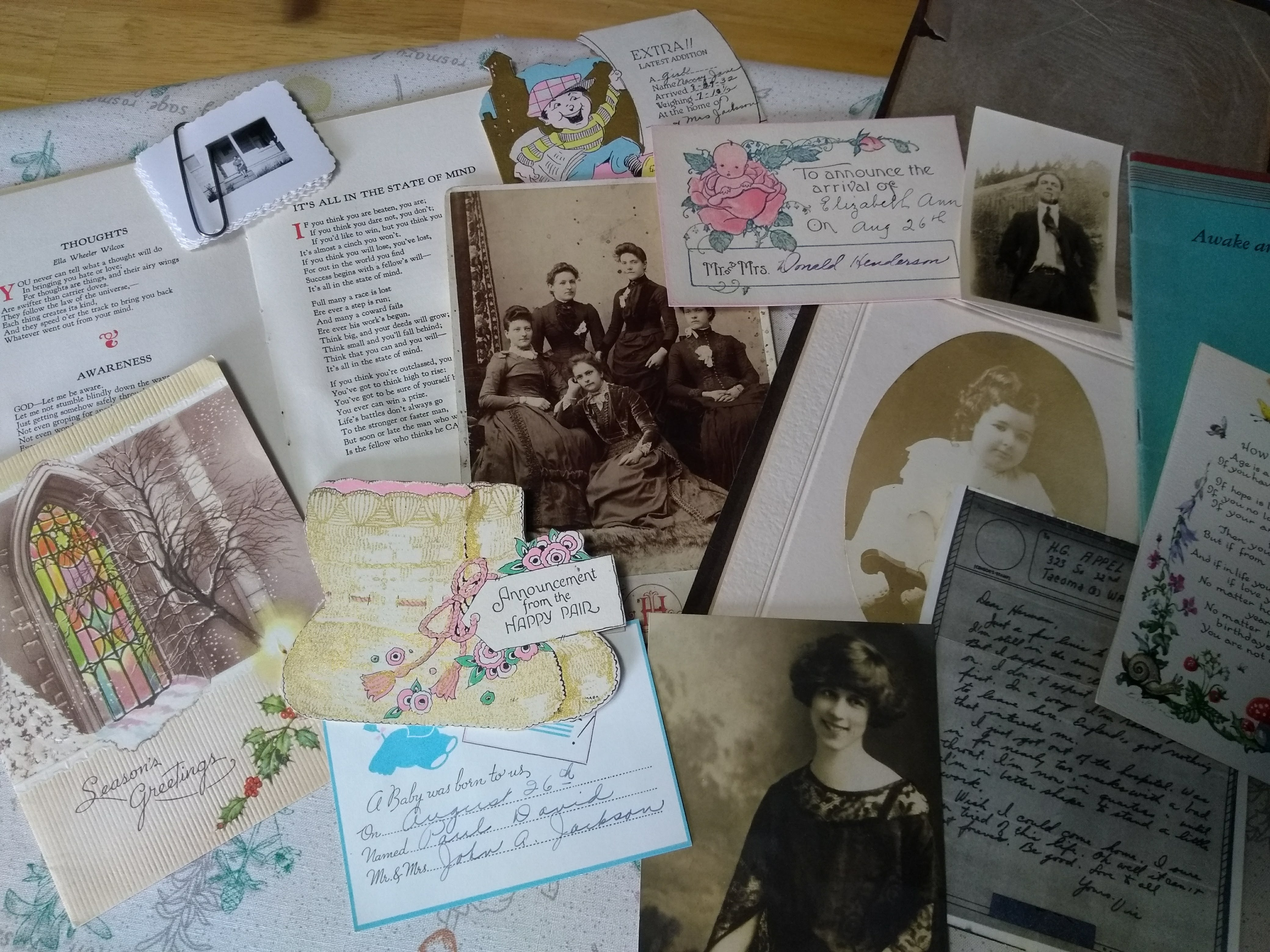 Grandma's box of clippings